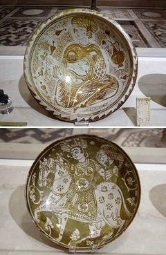 ファーティマ朝のラスター彩<br>(金属釉を用いたイスラム独特の陶器)