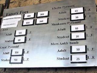 左上から2番目にWorkmen Cemetery<br>「ピラミッドを作った 職人たちの町」400ポンドの表示